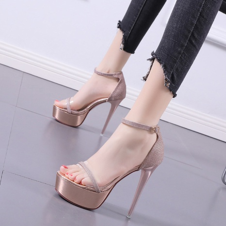 one word buckle strap stiletto open toe sandals  NHSO314528's discount tags