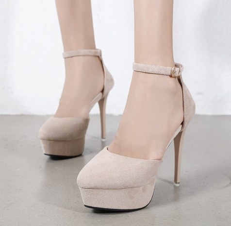 pointed toe suede stiletto single shoes  NHSO314532's discount tags