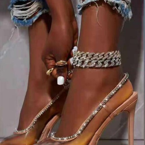 transparent high-heeled rhinestone pointed stiletto sandals  NHSO314545's discount tags
