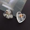 Boucles d39oreilles feuille de fleur en rsine transparente NHOM314566