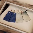 Boucles d39oreilles pendantes grandes coquillage gris NHOM314562