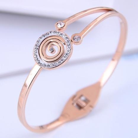 Bracelet simple en acier titane de mode coréenne NHSC314574's discount tags