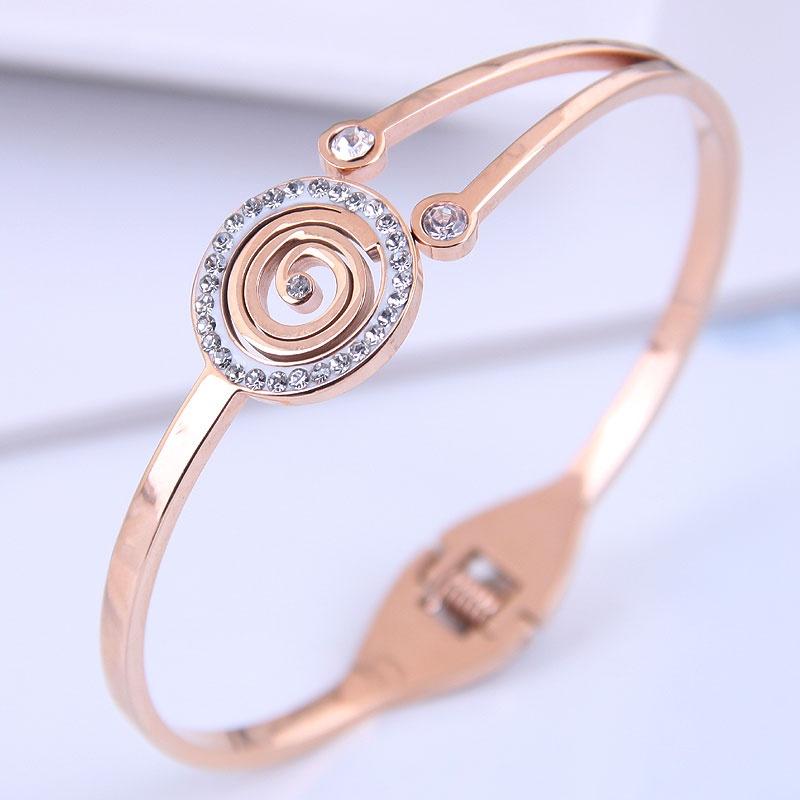 Bracelet simple en acier titane de mode corenne NHSC314574