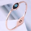 Bracelet oeil de dmon concis en acier titane de mode corenne NHSC314586