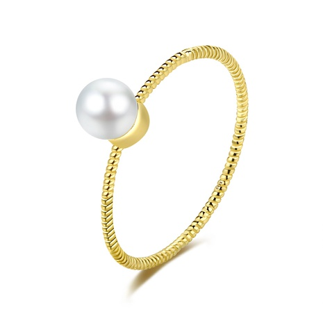 S925 silver plated fashion pearl ring  NHLE314013's discount tags