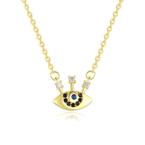 Collar con colgante de ojo de diablo simple retro de plata 925 NHLE314044's discount tags