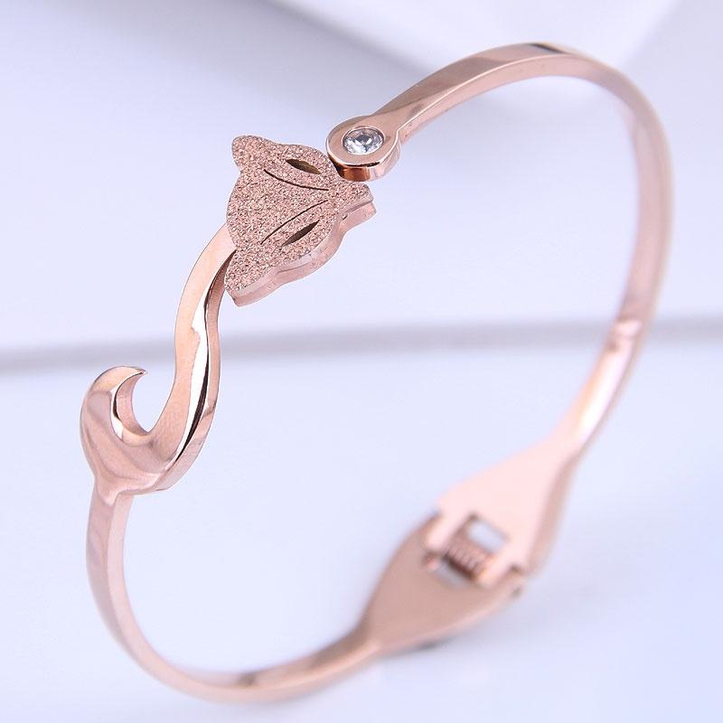 Bracelet simple en acier titane de mode corenne NHSC314584