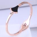 Bracelet simple en acier titane de mode corenne NHSC314583