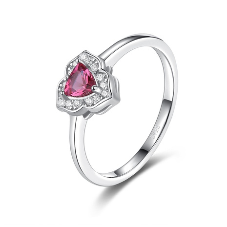S925 silver diamond artificial ruby ring NHLE314058's discount tags