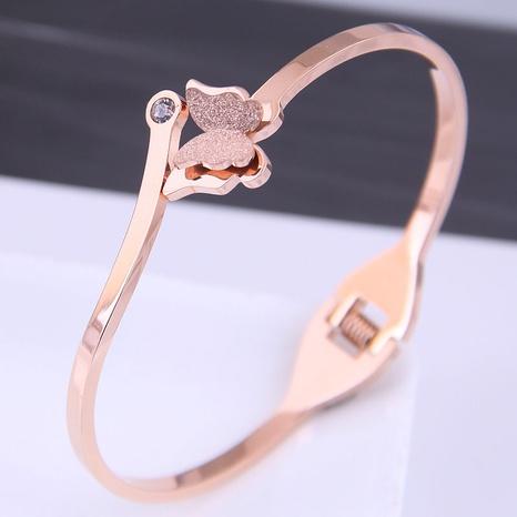 Korean fashion titanium steel butterfly bracelet NHSC314581's discount tags