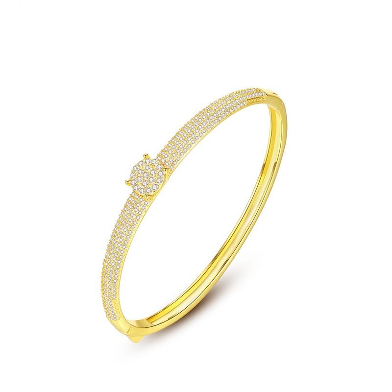 bracelets de mode en zircon incrusts de cuivre NHTM314075
