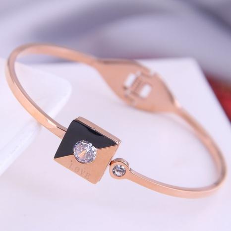 Korean fashion titanium steel simple love letter bracelet NHSC314582's discount tags
