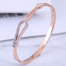 Bracelet d39amour simple en acier titane de mode corenne NHSC314578