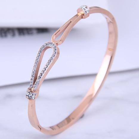 Bracelet d'amour simple en acier titane de mode coréenne NHSC314578's discount tags