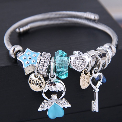 fashion simple angel doll key bracelet NHSC314579's discount tags