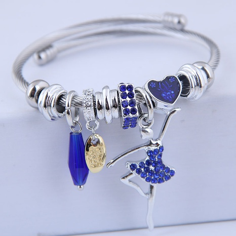 fashion simple flash diamond ballet bracelet NHSC315057's discount tags