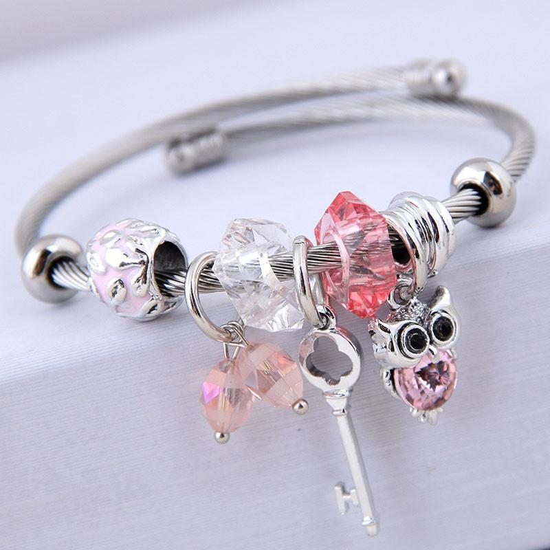 bracelet de hibou de cl sauvage en mtal de mode NHSC315051