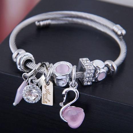 fashion simple swan bracelet NHSC315054's discount tags