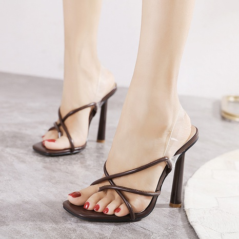 chanclas sandalias de tacón alto de gran tamaño NHEH314709's discount tags