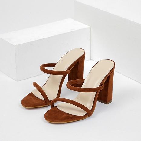zapatos de moda de tacón grueso de verano NHEH314735's discount tags