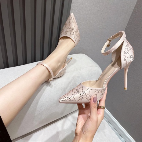 temperamento puntiagudo tacones altos zapatos de tacón de aguja NHEH314742's discount tags