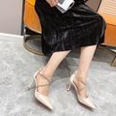 sandalias de tacn de aguja con hebilla cruzada en punta NHEH314739