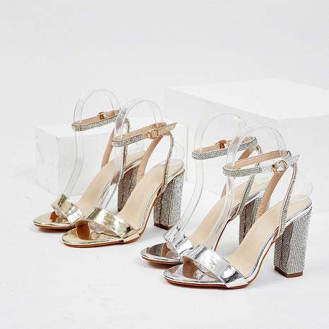 zapatos de tacón grueso de moda de tacón alto NHEH314743's discount tags