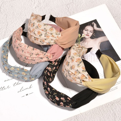 Korean floral fabric fashion headband NHAQ314871's discount tags