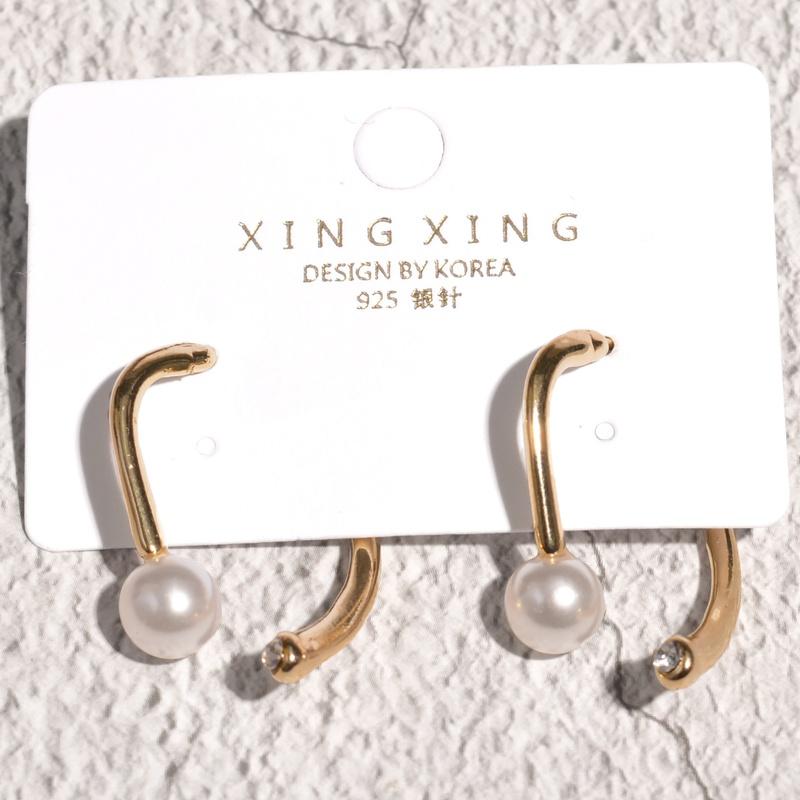 fashion metal pearl earrings  NHAQ314872