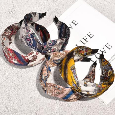 Stirnband mit breiter Krempe im Retro-Druck NHAQ314874's discount tags