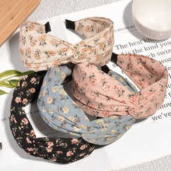 fashion chiffon wide-brimmed flower headband  NHAQ314875