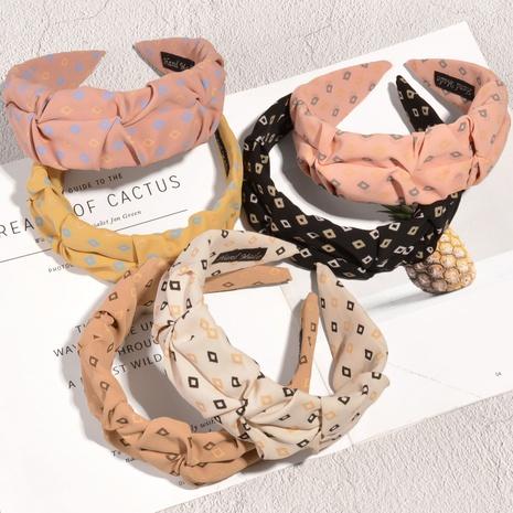 breites Stirnband aus bedrucktem Stoff NHAQ314877's discount tags