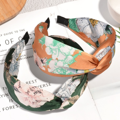 Korean floral wide-brimmed headband  NHAQ314878's discount tags