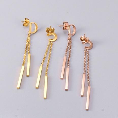 Boucles d'oreilles en acier titane NHAB314890's discount tags