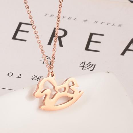 Collier cheval du zodiaque coréen simple NHAB314896's discount tags