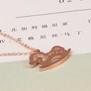 Collier cheval du zodiaque coren simple NHAB314896