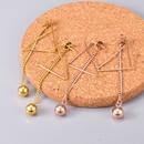 simple triangle long earrings NHAB314904