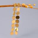 boucles d39oreilles longues disques dors brosss NHAB314924