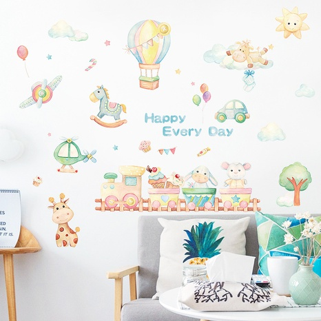 Cartoon balloon wall stickers NHAF314937's discount tags