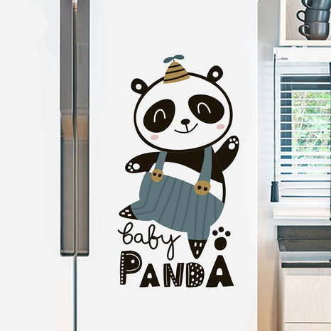 Cartoon Panda Wall Sticker NHAF314941's discount tags