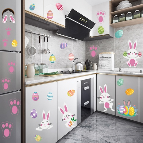 New Egg Bunny Footprint Sticker NHAF314944's discount tags