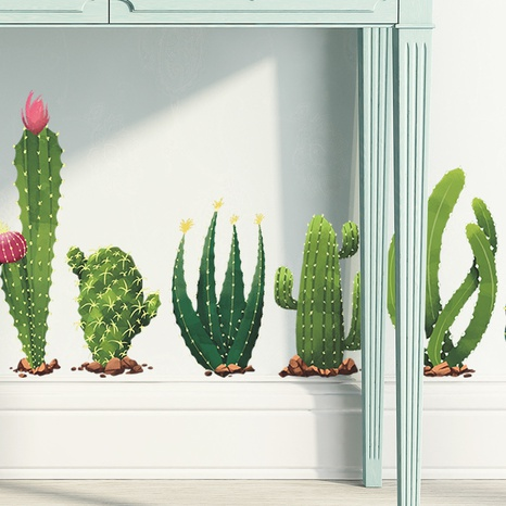 new tropical cactus skirting wall stickers NHAF314948's discount tags
