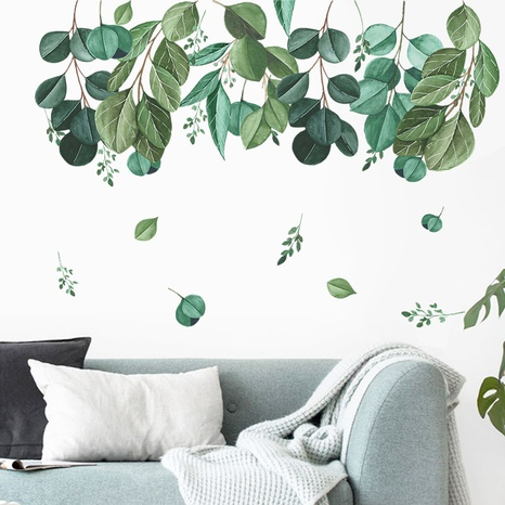 new pastoral green leaves wall stickers NHAF314949's discount tags