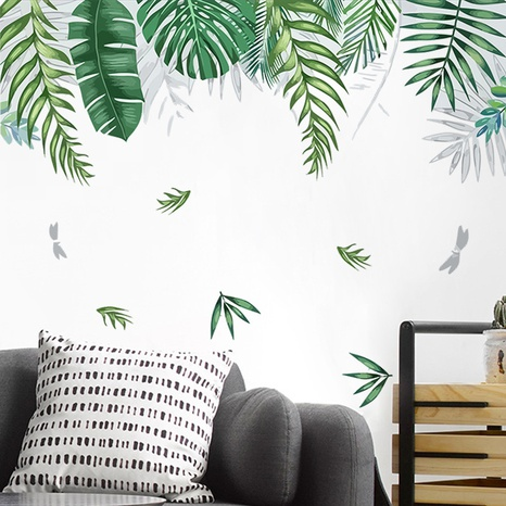new tropical green leaf wall stickers NHAF314954's discount tags