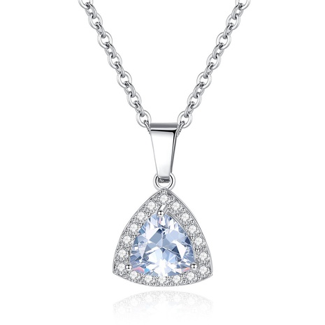simple zircon micro-inlaid triangle necklace NHKN314982's discount tags