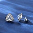 ensemble de boucles d39oreilles simples avec collier triangle microincrust de zirconium NHKN314984