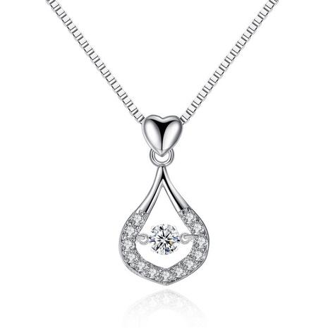 new simple zircon water drop necklace  NHKN314991's discount tags
