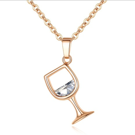 Fashion new wine glass necklace NHKN314992's discount tags