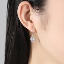 boucles d39oreilles simples microincrustes de diamants NHKN314993