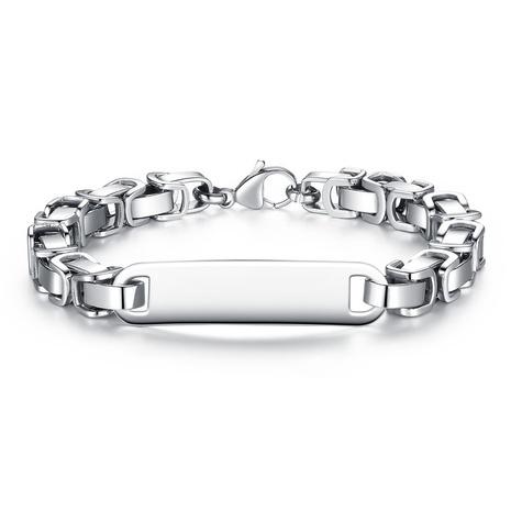 bracelet en acier inoxydable pour homme NHKN314998's discount tags